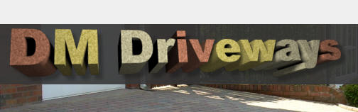 DM Driveways brick pavia logo